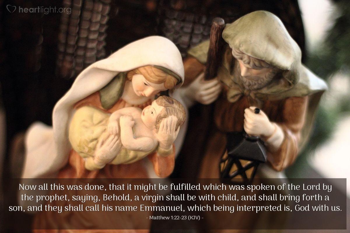 Matthew 1 22-23